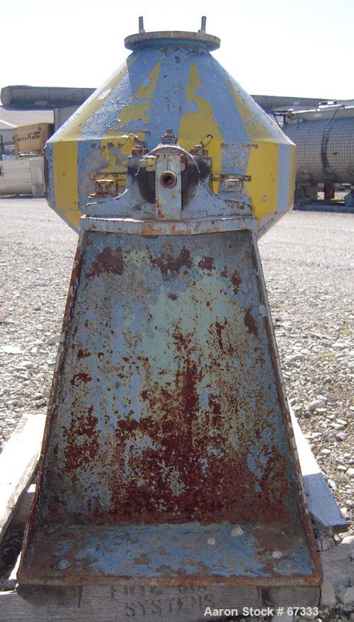 "Used- Patterson Foundry Double Cone Mixer, Approximately 1 Cubic Foot Working Capacity (1.5 total), 304 Stainless Steel. 18""..."