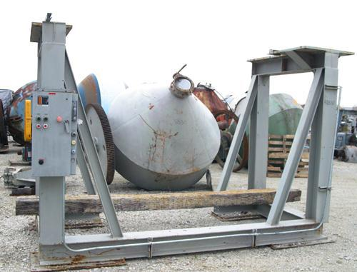 Used: Carbon Steel Patterson Foundry and Machine Co Double Cone Thoro Blender, 135 cubic feet working, 193 total
