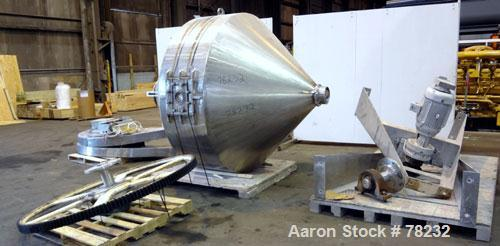 """Used- Paul O Abbe Double Cone Blender, Model 84RCB, 114 Cubic Feet Working Capacity, 304 Stainless Steel. 6'6"""" Diameter x 2'..."""