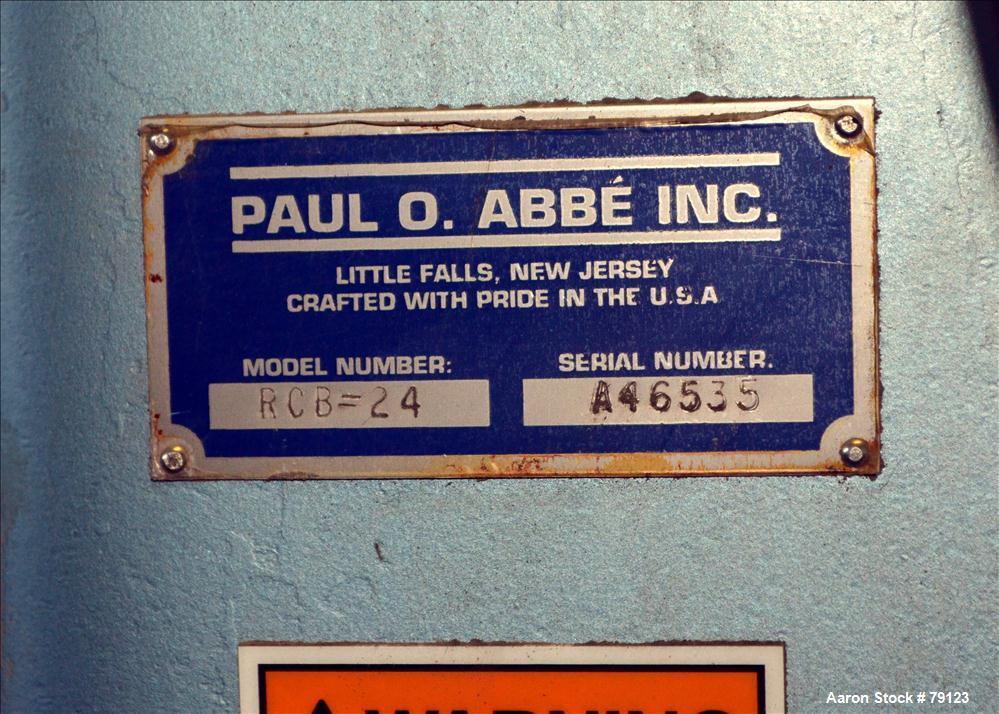 Unused- Paul O Abbe Rota Cone Blender, Model RCB-24, 2.4 Cubic Foot Working Capa