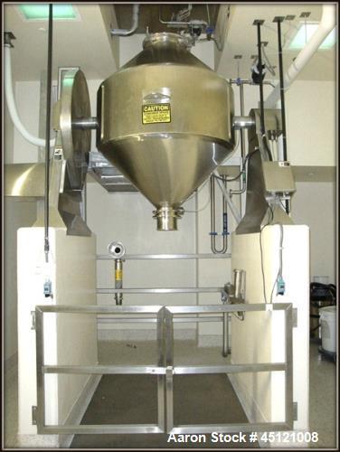 Used- Paul O. Abbe S/S Rota-Cone Blender, Model RCB-54. 83 cubic foot capacity, 54 cubic foot working capacity. Blender diam...