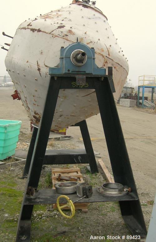 "Used- Paul O Abbe Rota Cone Blender, 70 Cubic Feet Working Capacity, 108 Total, 316 Stainless Steel. 72"" diameter x 20"" stra..."