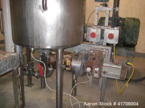 Used-Scholl Servo Lift Free Fall Mixer, type NG1200. All stainless steel, mirror polished. Total capacity 42.4 cubic feet (1...