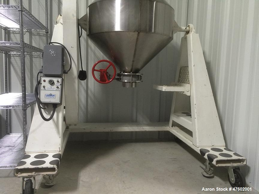 "Used- Sepor Rota-Cone Blender. Max operating capacity is 5.0 cubic feet (total volume 7.7 cubic feet). 30"" diameter, 316 sta..."