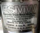 Used- Evansville Sheet Metal Works Twin Sheel Blender, Model ESMW-5.0, 316 Stainless Steel. Approximate 18