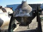 Used- Stainless Steel Double Cone Blender (approximately 20 cubic ft.). Gearhead motor drive with brake and intensifier bar ...