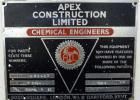 Used- Apex Construction Limited Twin Shell Blender, approximately 4 cubic feet capacity, 321 stainless steel. (2) 15
