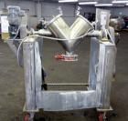 Used- Stainless Steel Gemco Twin Shell Blender, 0.95 to 1.05 Cubic Feet Working