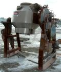 Used- Stainless Steel Gemco Double Cone Liquid Solids Blender, 20 Cubic Foot Wor