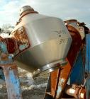 Used- Stainless Steel Gemco Double Cone Liquid Solids Blender, 5 Cubic Foot Work
