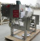 USED: Gemco slant double cone blender, 5 cu ft working capacity, 304 stainless steel. Max material density 70#/cubic foot. A...