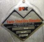 Used- Patterson Kelley Twin Shell Blender, 16 Quart Capacity (.52 cubic feet), 3