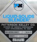 Used- Patterson-Kelley Twin Shell Liquid-Solids Blender, 2 cubic feet capacity, 316 stainless steel. 62 Pounds per cubic foo...