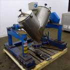 Used- Patterson Kelly Twin Shell Cross Flow Blender, 5 Cubic Feet Capacity