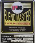 Used- Patterson-Kelley Blend Master Lab Blender, Maximum density rating 200 pound a cubic foot. Unit consists of (1) Yoke sh...
