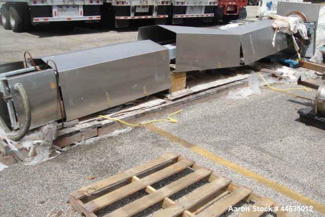 Used- Bohle Post Mounted Bin Blender, stainless steel construction.