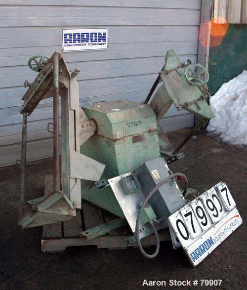"Used- Alsteele Double Drum Tumbler, Carbon Steel. Can accept drums approximately 20"" diameter x 36"" tall. Driven by a 3/4 HP..."
