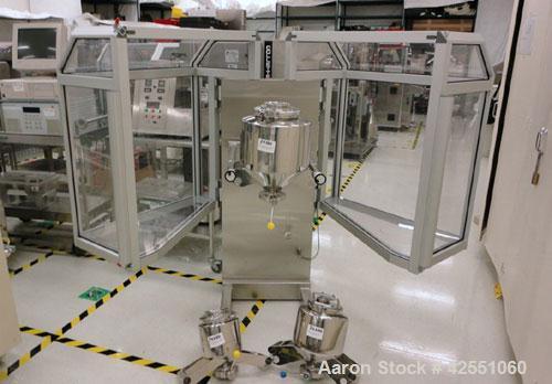 Used- LB Bohle Bin Blender, Model LM 40-S, Stainless Steel. (1) Approximate 10 liter bin, 40 kg max load capacity, variable ...