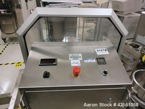 """Used- L.B. Bohle Bin Blender, Model LM40, Stainless Steel. (5) Stainless steel bins, approximate dimensions, (1) 8"""" x 6"""", (1..."""