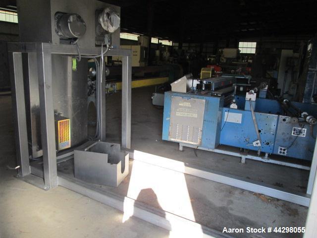 Used- Custom Metalcraft Transtore Tote Bin Blender, Model 710321, stainless steel frame and tote rack, twin post mounted, se...