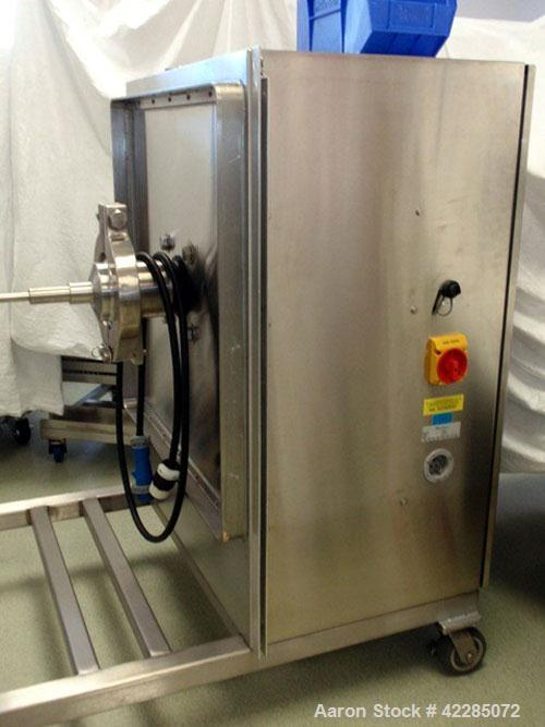 Used- Globe Pharma Bin Blender, Model MB-1 2. Stainless steel construction, with 1 and 2 cu. ft. interchangeable stainless s...