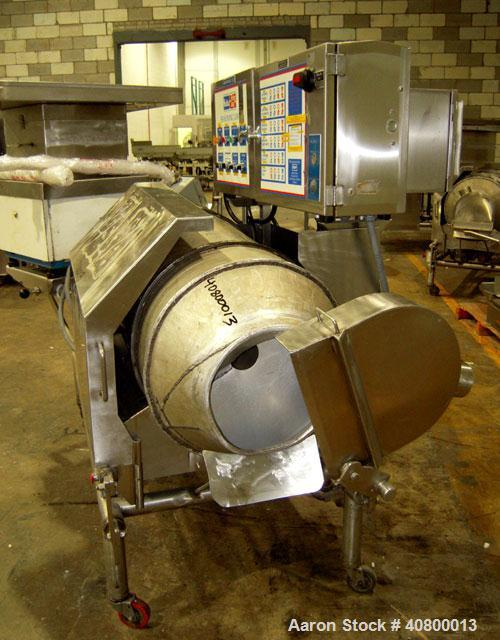 """Used- Heavy Duty Products Seasoning System, Consisting Of: (1) Acrison feeder, approximately 1 1/2"""" diameter x 42"""" long stai..."""