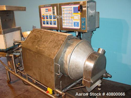 """Used- Heavy Duty Products Seasoning System, consisting of: (1) Acrison feeder, model 610, approximately 1 1/2"""" diameter x 42..."""