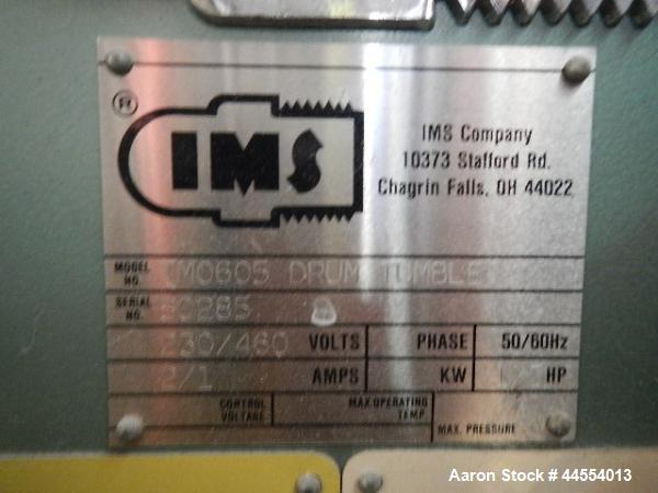 Used- IMS twin drum tumbler, model DM0605