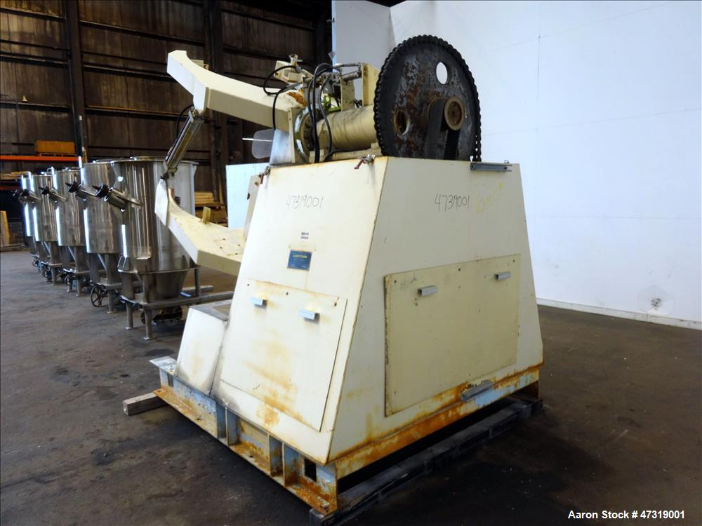 Used- Lightnin Container Batch Mixer, Model CBM-35, 35 Cubic feet capacity. Tumble speed approximate 13 rpm. Driven by an ap...