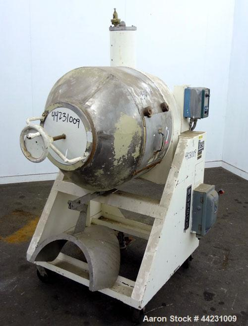 Used- Munson Machinery Mini Rotary Batch Mixer, Model MX-3-S/S, 3 Cubic Feet, 304 Stainless Steel. Maximum batch weight 350 ...