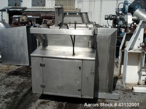 "Used- Flo-Bin Tote Blender, Stainless Steel. Including bins and framework, 316 stainless steel bins, (1) 25 cubic feet, 32"" ..."