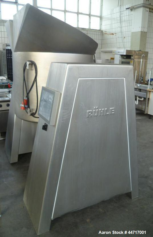 Used-Ruehle MKR 600 Vacuum Mixer for mixing, marinating and salting meats.  Stainless steel construction.  Maximum capacity ...
