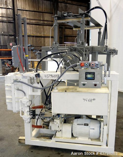 "Used- Tote Bulk Handling Systems Tote Blender. Will handle approximate 46"" wide x 46"" long x 48"" tall totes. Top pneumatic h..."