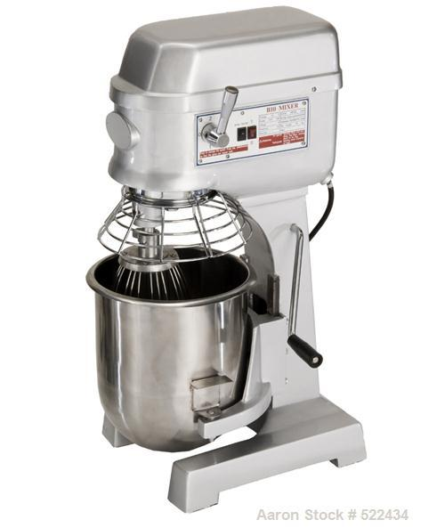 Unused-NEW: 10 Quart all purpose dough mixer with bowl accessories. Heavy duty motor to meet demanding operations. Agitators...