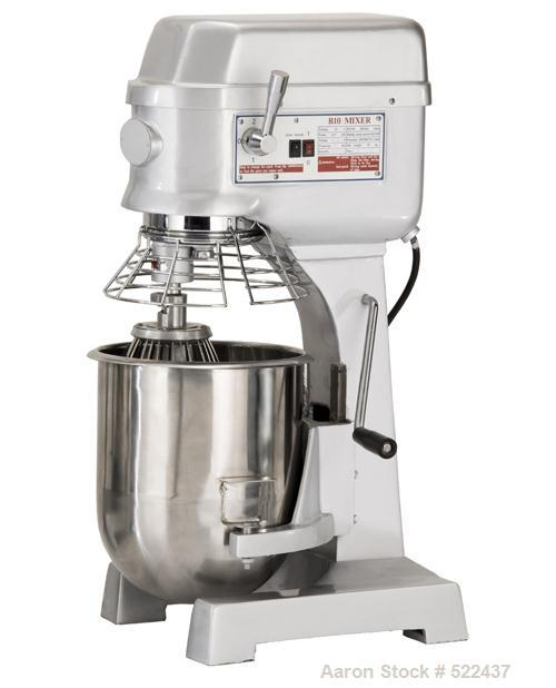 Unused-NEW: 20 Quart all purpose dough mixer with bowl accessories. Heavy duty motor to meet demanding operations. Agitators...