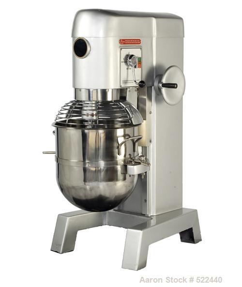 Unused-NEW: 50 Quart all purpose dough mixer with bowl accessories. Heavy duty motor to meet demanding operations. Agitators...