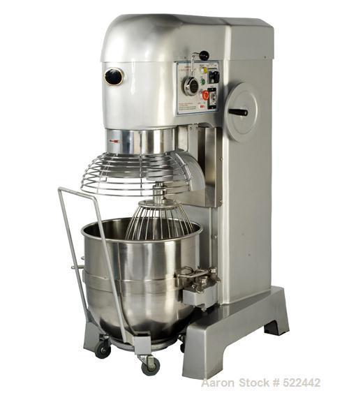 Unused-NEW: 80 Quart all purpose dough mixer with bowl accessories. Heavy duty motor to meet demanding operations. Agitators...