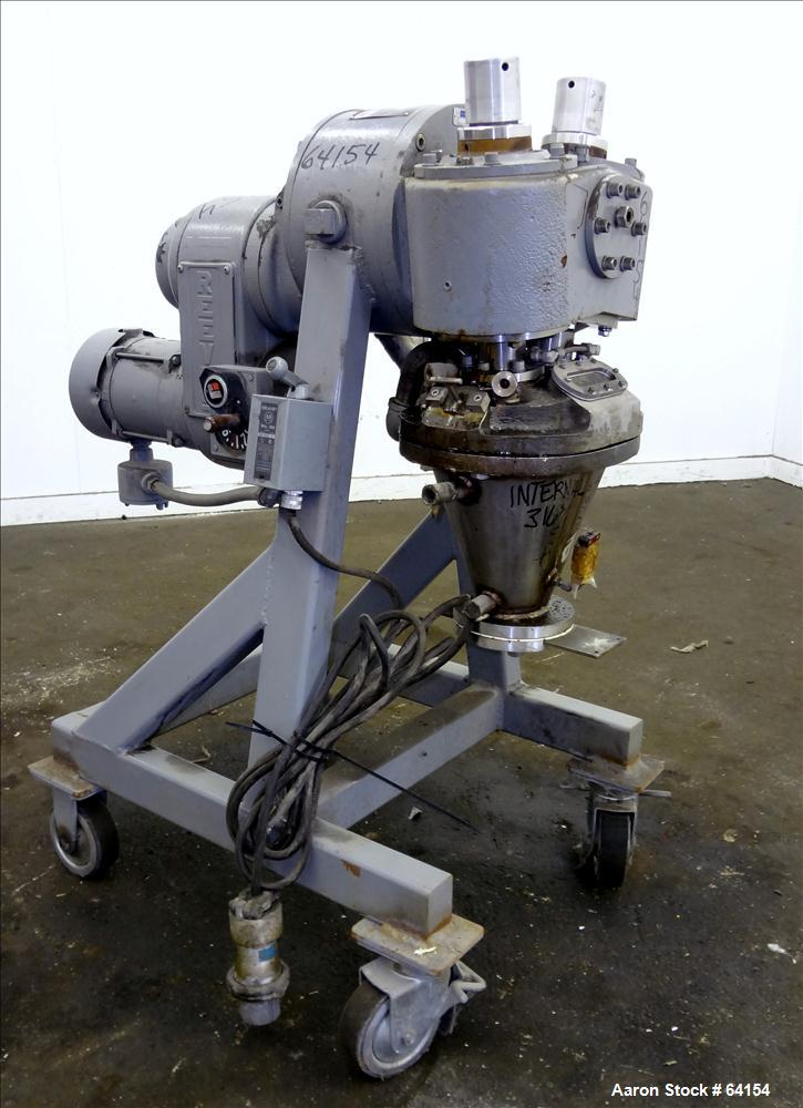 Used- Stainless Steel Atlantic Research Vertical Helicone Mixer, Model 4CV