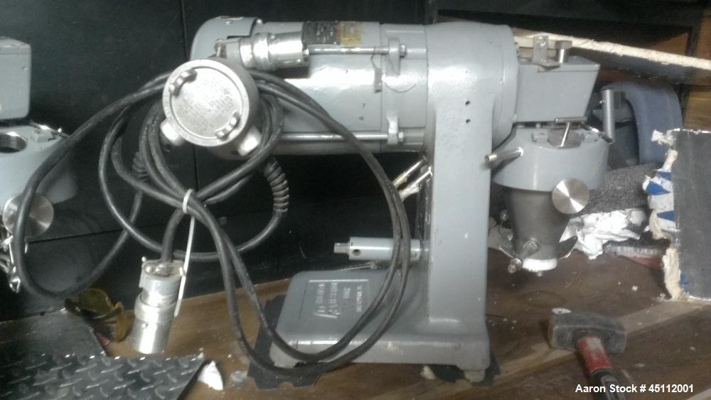 Used-Atlantic Research Helicone Lab Mixer, Model 2CV.  304 Stainless steel jacketed bowl, working capacity 15 - 150 cc, tota...