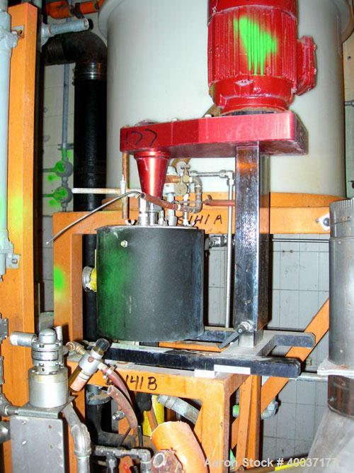 """Used-Used: Kinematica Polytron lab size homo mixer, model PTDEX, stainless steel. Jacketed bowl 8"""" diameter x 9"""" deep. Drive..."""