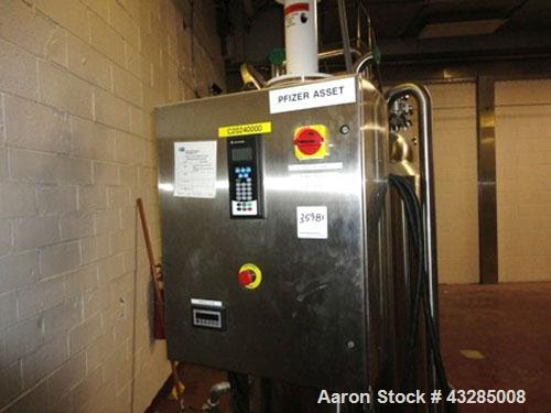 """Used- Admix Processor, Model VS-130. Mounted on 160 gallon Zimmerlin GMBH kettle, stainless steel. 32"""" Diameter x 44"""" straig..."""