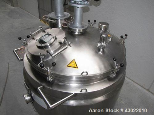 Used-ALA Homogenizer.  Vessel volume 206 gallons (780 liters), pressure 29 psi (+2 bar), maximum temperature 284 deg F (120 ...