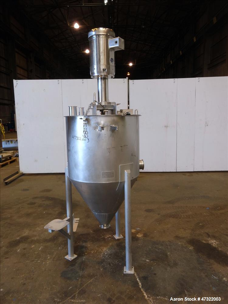 Used- High Shear/Disolver Mixer, Stainless Steel.