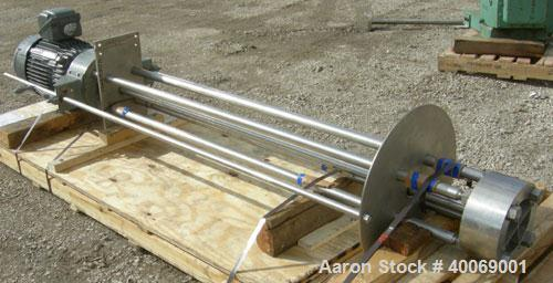 """Used: Arde-Barinco Homo Mixer, Model C5-25524R085BPL, 316 Stainless Steel.Approximately 85"""" long shaft x 6-1/2"""" diameter 5 b..."""