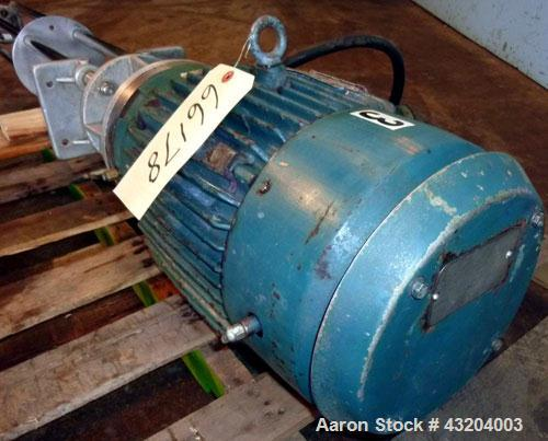 "Used- Arde Barinco Style Homomixer, Model 3H, Stainless Steel.(4) Support posts, (1) shaft with mixing blade.4"" diameter rot..."