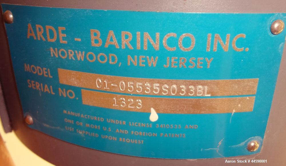 Used- Stainless Steel Arde-Barinco Reversible Homogenizing Mixer, Model C1-05535S033BL