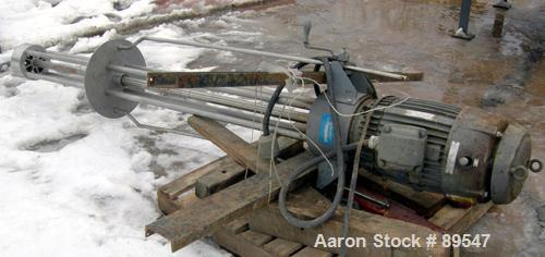"USED: Arde Barinco homo mixer, model C3-20435R085BLD, 304 stainless steel. 84"" long shaft, 5-3/4"" diameter 4 blade turbine. ..."
