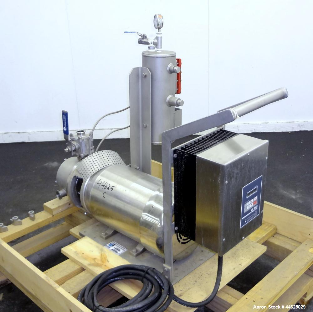 Used- Ross Series 400 In-Line Mixer, Model HSM 401SC15, 316 Stainless Steel. Rated 66 gallons per minute (water). Non-jacket...