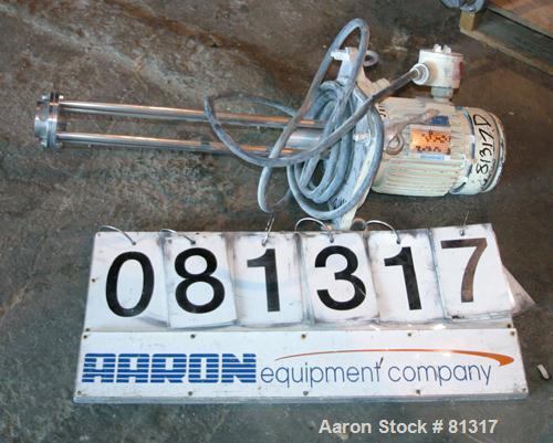 Used- Ross Batch Mixer Emulsifier, Model ME101, 316 Stainless Steel.