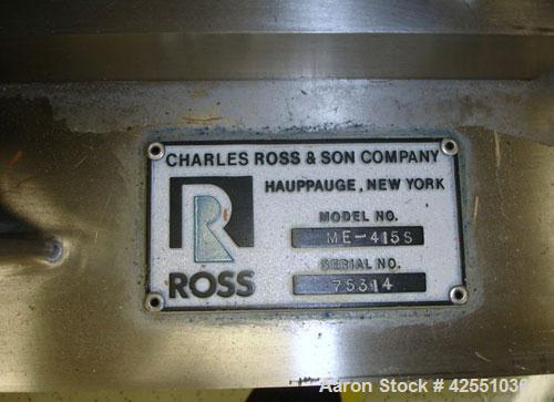 """Used- Ross High Shear Pump, Model ME415S, Stainless Steel. Including motor, approximate 4"""" diameter rotor/stator, 15 hp, 230..."""